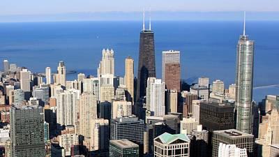 Aerial View Of Chicago Art Print by Luiz Felipe Castro