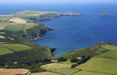 Y120831 Photograph - Aerial View Of Cornwall by Allan Baxter