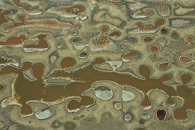 Aerial View Of Dyeing Pits Art Print by Bobby Haas