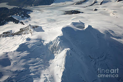 Aerial View Of Glaciated Mount Douglas Art Print by Richard Roscoe