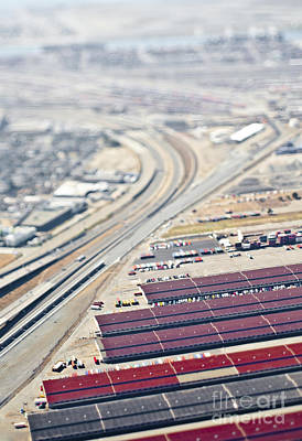 Industrial Complex Photograph - Aerial View Of Industrial Area by Eddy Joaquim