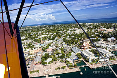 Photograph - Aerial View Of Mallory Square At Key West by Christopher Purcell
