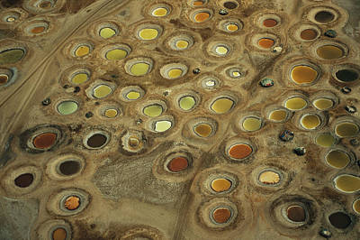 Aerial View Of Multi-colored Dyeing Art Print by Bobby Haas