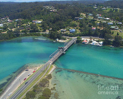 Photograph - Aerial View Of Narooma Bridge And Inlet by Joanne Kocwin