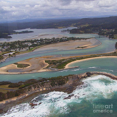 Photograph - Aerial View Of Narooma Inlet by Joanne Kocwin