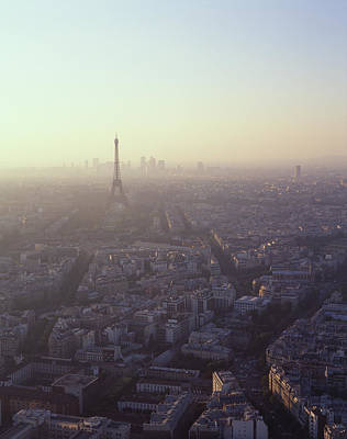 Paris Skyline Photograph - Aerial View Of Paris From Montparnasse Tower by Bellurget Jean Louis