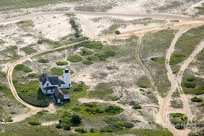 Aerial View Of Stage Harbor Light In Chatham On Cape Cod Massac Art Print