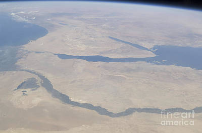Aqaba Photograph - Aerial View Of The Egypt And The Sinai by Stocktrek Images