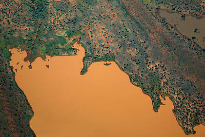Aerial View Of Uncultivated Landscape Art Print by Tobias Titz