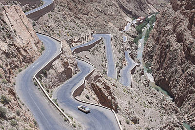 Y120831 Photograph - Aerial View Of Winding Mountain Road by Laurie Castelli