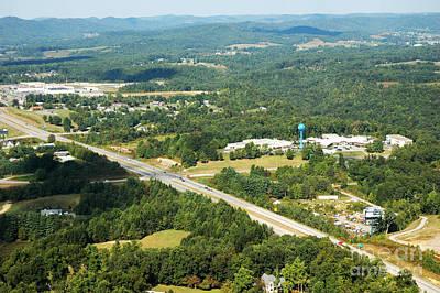 Aerial View Summersville West Virginia Art Print by Thomas R Fletcher