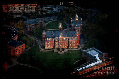 Woodburn Hall Photograph - Aerial Woodburn Hall In Evening by Dan Friend