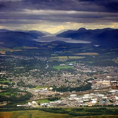 Photograph - Aeriel Image Of Inverness And Loch Ness by Joe Macrae