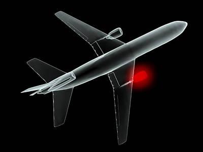 Aeroplane, Simulated X-ray Artwork Art Print by Christian Darkin