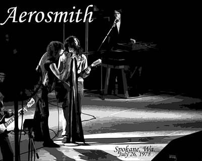 Photograph - Aerosmith In Spokane 12b by Ben Upham