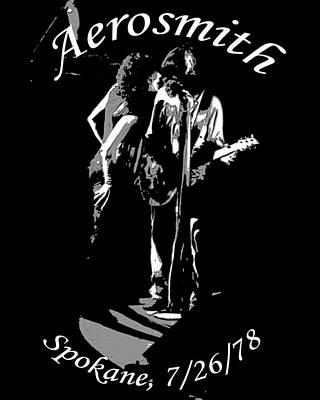 Photograph - Aerosmith In Spokane 1b by Ben Upham