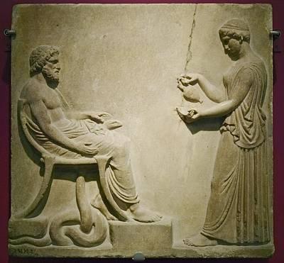 Aesculapius, Roman God Art Print by Colin Cuthbert