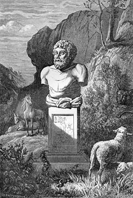 Aesop, Ancient Greek Fabulist Art Print by