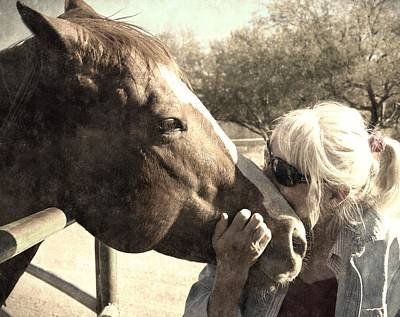 Photograph - Affectionate Stallion by Regina Arnold