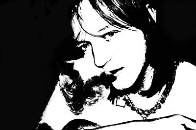 Photograph - Affectionate Teen And Cat Digital by Susan Stevenson