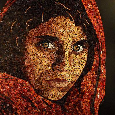 Mixed Media - Afghan Girl II by Doug Powell