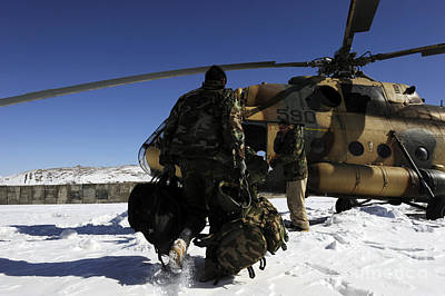 Afghan National Army Photograph - Afghan National Army Air Corps Members by Stocktrek Images