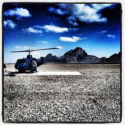 Helicopter Photograph - Afghanistan Wasteland by Cody Barnhart