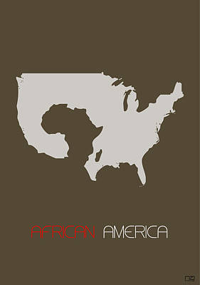 African America Poster Art Print by Naxart Studio