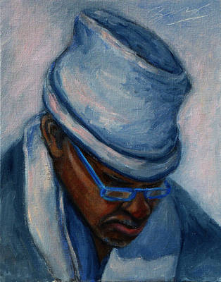 Painting - African American 1 by Xueling Zou