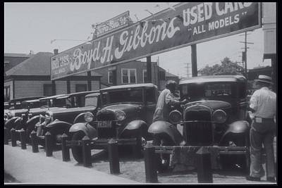39 Ford Photograph - African American Attendant Cleans Hood Of Ford by Archive Holdings Inc.