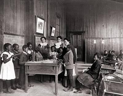 African American Children Learning Art Print by Everett