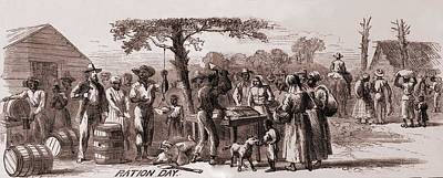 African American Freedmen Receiving Art Print by Everett