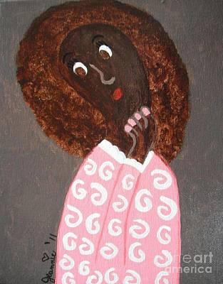 African American Girl Pondering Original by Jeannie Atwater Jordan Allen