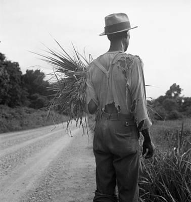 African American Man In Living In Rural Art Print by Everett