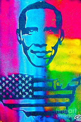 Liberal Painting - African-american Obama by Tony B Conscious
