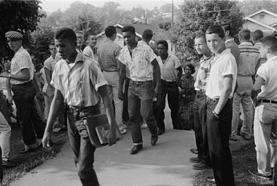 African American School Integration Print by Everett