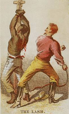 Whipping Wall Art - Photograph - African American Slave Being Whipped by Everett