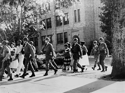 African-american Students Leaving Print by Everett