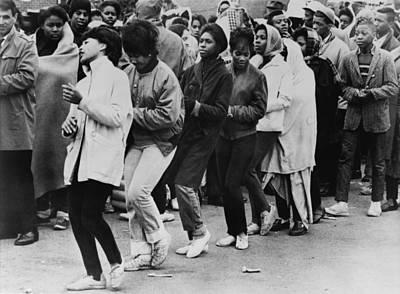 African American Women Dance At A Civil Art Print by Everett