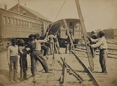 African American Work Crew In Northern Art Print by Everett