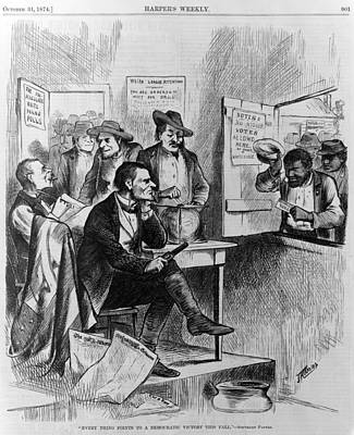 African Americans Being Discriminated Art Print by Everett