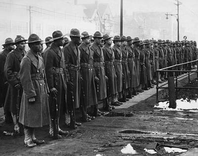 African Americans In The U.s. Army Art Print