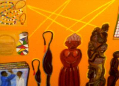 African Arts And Crafts Art Print by Annette Stovall