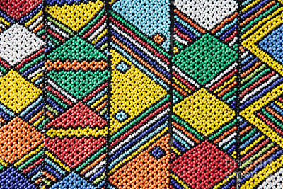 African Beadwork 1 Art Print by Neil Overy