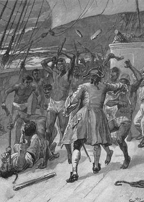 African Captives Fight Against A 18th Art Print