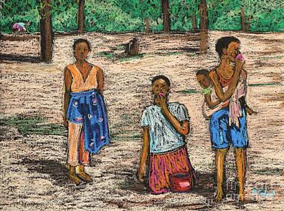 Pastel - African Children by Reb Frost