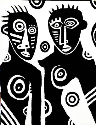 African Couple Art Print by Robert Daniels
