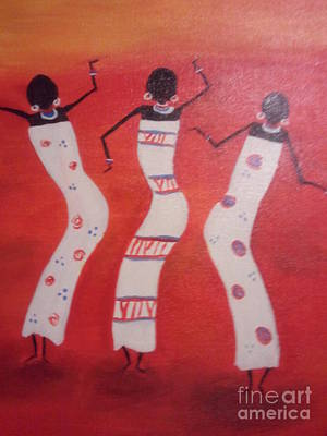 African Dance Art Print by Lea Kirby