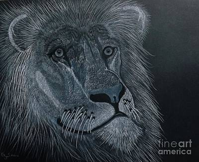 African King Art Print by Gerald Strine