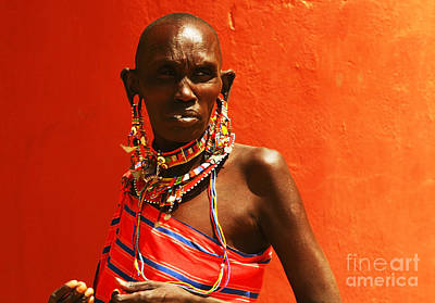 Photograph - African Lady by Anna Om